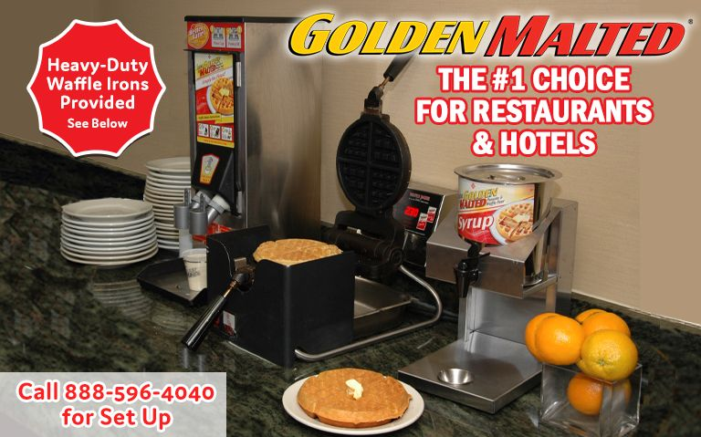 Add the #1 Rated Hotel & Restaurant Waffle to Your Menu - It's Easy with Golden Malted