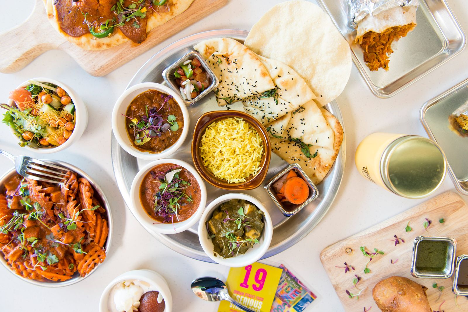 Curry Up Now will celebrate the Grand Opening of its first Southern California restaurant in Irvine at 922 Spectrum Center Drive on Wednesday, January 29.