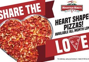 Mountain Mike's to Offer Heart Shaped Pizza All of February