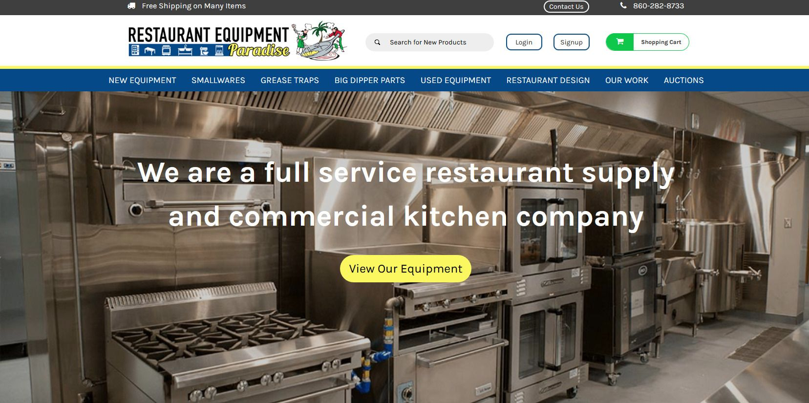 Restaurant Equipment Paradise Launches New Website