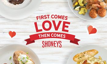 Shoney's To Treat Couples to a '2 Can Dine for $24.99' Experience on Valentine's Day Weekend Which Includes a FREE Shareable Dessert