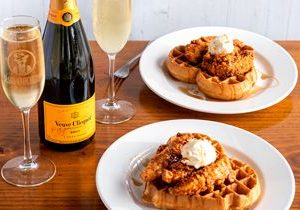 Slim Chickens Elevates Valentine's Day With Fine Champagne and Heart-Shaped Waffles
