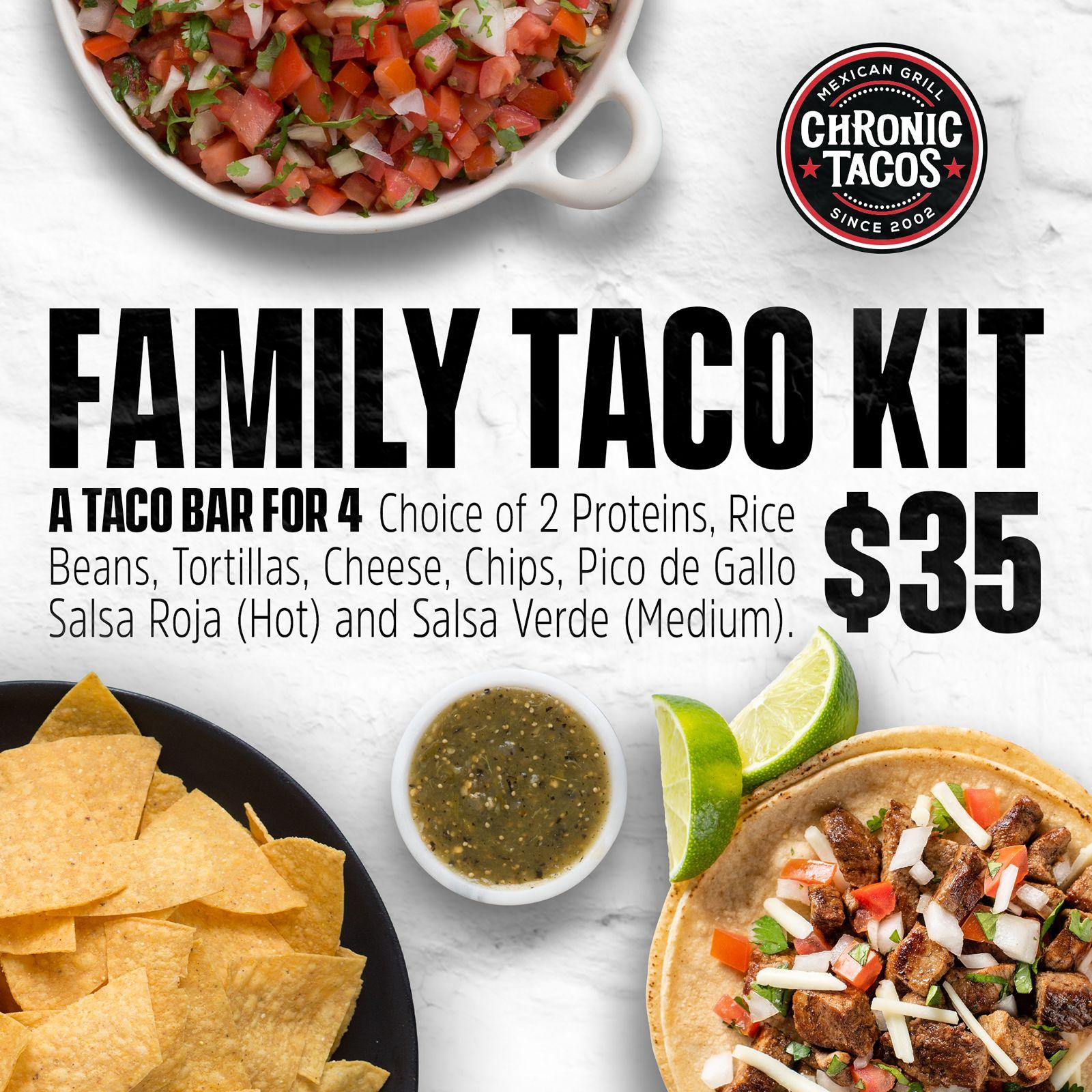 Chronic Tacos Introduces the Family Taco Kit