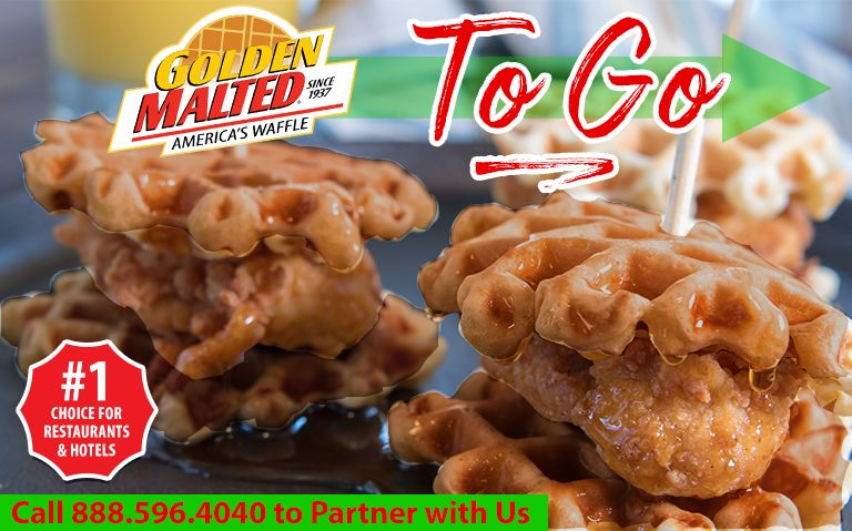 Enhance Your Takeout Menu with Golden Malted Waffles - The #1 Waffles for Restaurants & Hotels