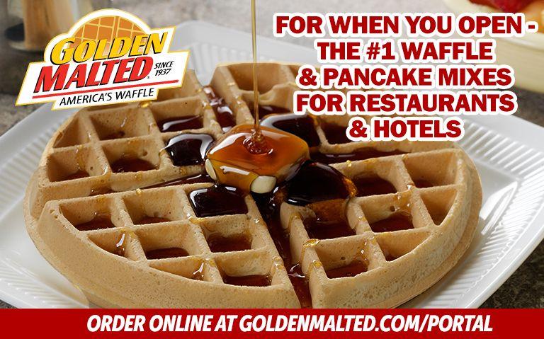 For When You Open - Les mélanges de gaufres et crêpes n ° 1 pour les restaurants et les hôtels de Golden Malted, le plus grand fournisseur de mélanges au monde
