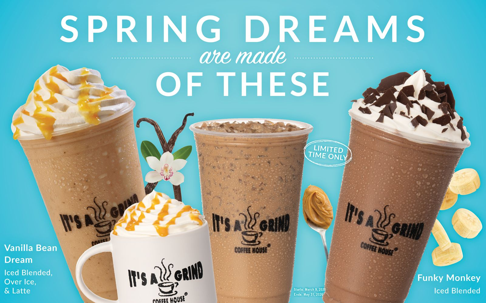 "It's A Grind Coffee House Introduces Its ""Spring Dream"" Beverage Lineup"