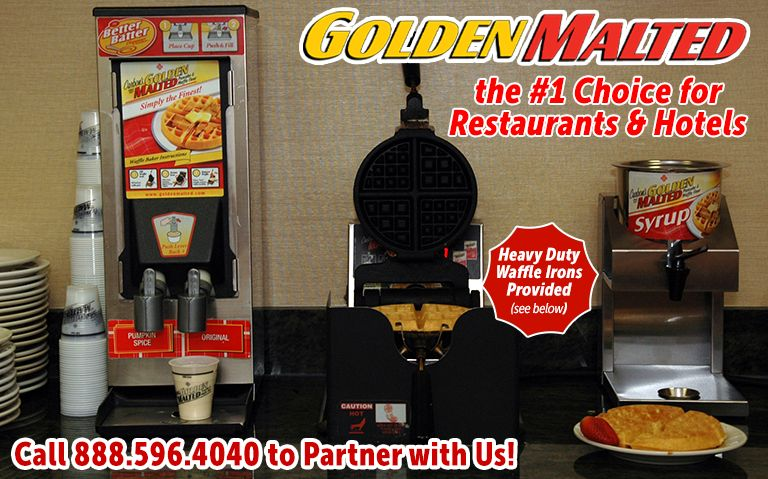Serve America's Favorite Waffles with Golden Malted - #1 Waffle for Restaurants & Hotels
