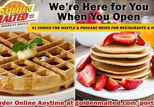 #1 Choice for Waffle & Pancake Mixes for Restaurants & Hotels – Golden Malted is Here When You Open