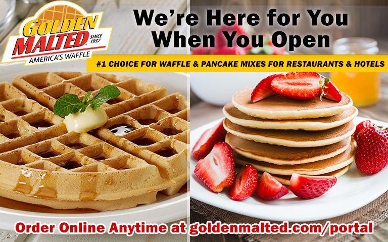 #1 Choice for Waffle & Pancake Mixes for Restaurants & Hotels - Golden Malted is Here When You Open