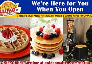 America's #1 Waffle and Pancake Mixes – Golden Malted is Here When You Open