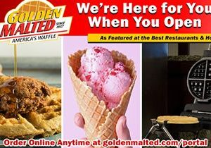 Golden Malted is Here When You Open – #1 Choice for Waffle & Pancake Mix
