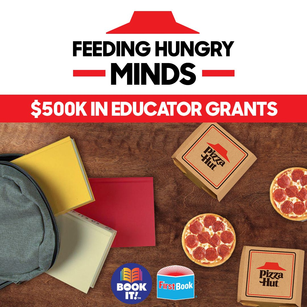 Pizza Hut Donates 250,000 Personal Pan Pizzas and Distributes $500,000 to Educators to Provide Meals and Books for Students in Need