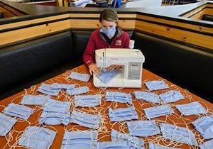 Raising Cane's Crew Sews Masks for Local Hospitals