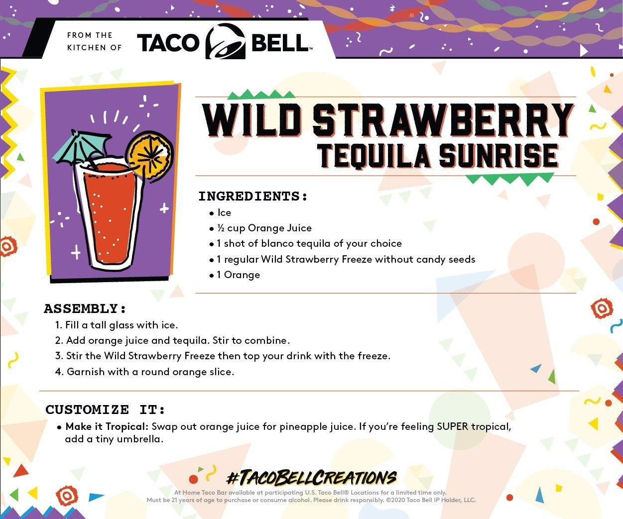 Taco Bell Unveils New At Home Taco Bar - Just In Time For Tuesday's Cinco De Mayo Celebrations