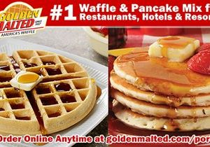 #1 Waffle & Pancake Mixes for Restaurants & Hotels – Golden Malted is Here When You Open