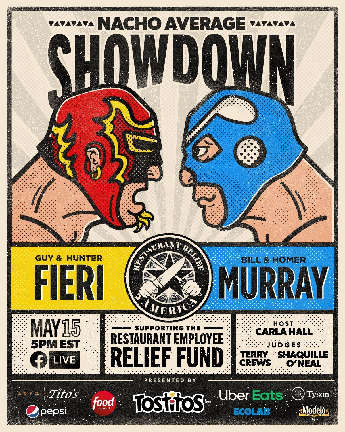 Guy Fieri And Bill Murray Go Head-to-Head In 'Nacho Average Showdown' Benefiting The Restaurant Employee Relief Fund