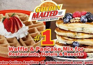 Serve America's #1 Waffles and Pancakes – Golden Malted Makes it Quick and Easy