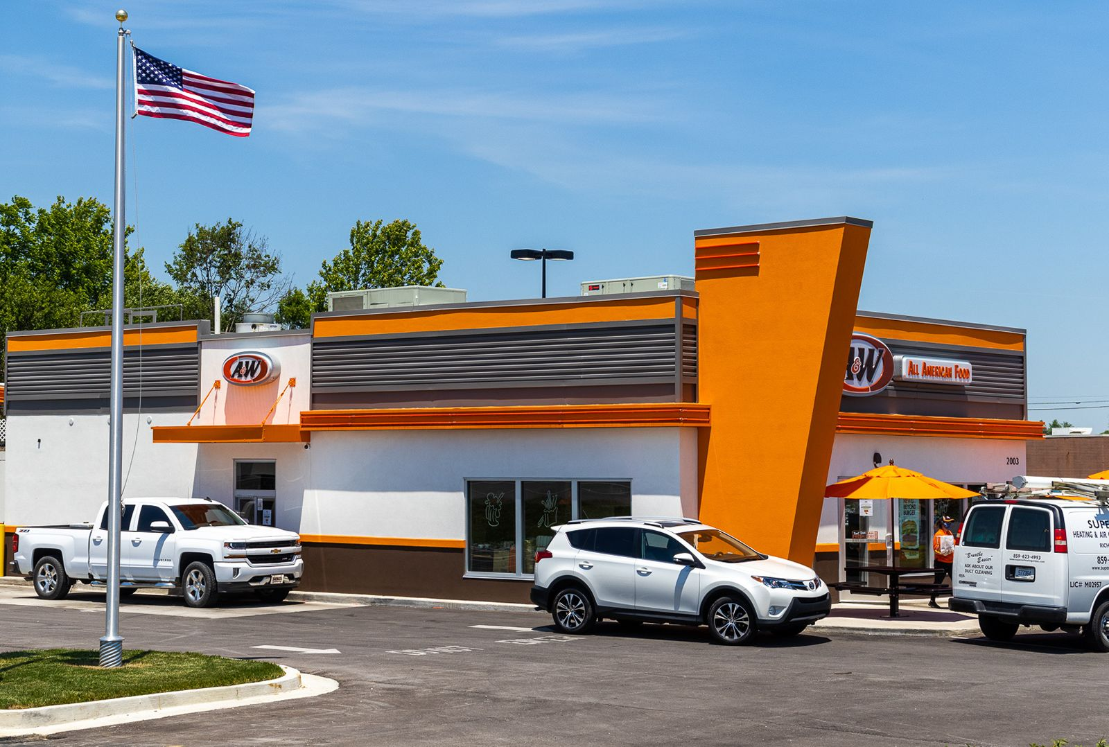 A&W has 16 new restaurants in development, with 10 being built by new franchisees. It has opened 12 in the last 18 months, including this new prototype in Richmond, Kentucky.