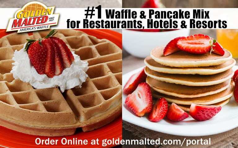 Golden Malted Waffle & Pancakes Mixes are the #1 Choice for Restaurants & Hotels