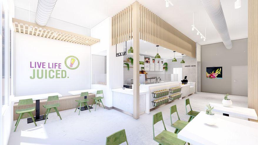 Rendering of Juice It Up! New Store Design