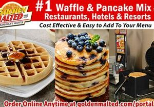 Serve America's #1 Waffles & Pancakes – Golden Malted Makes it Easy & Cost Effective for Restaurants