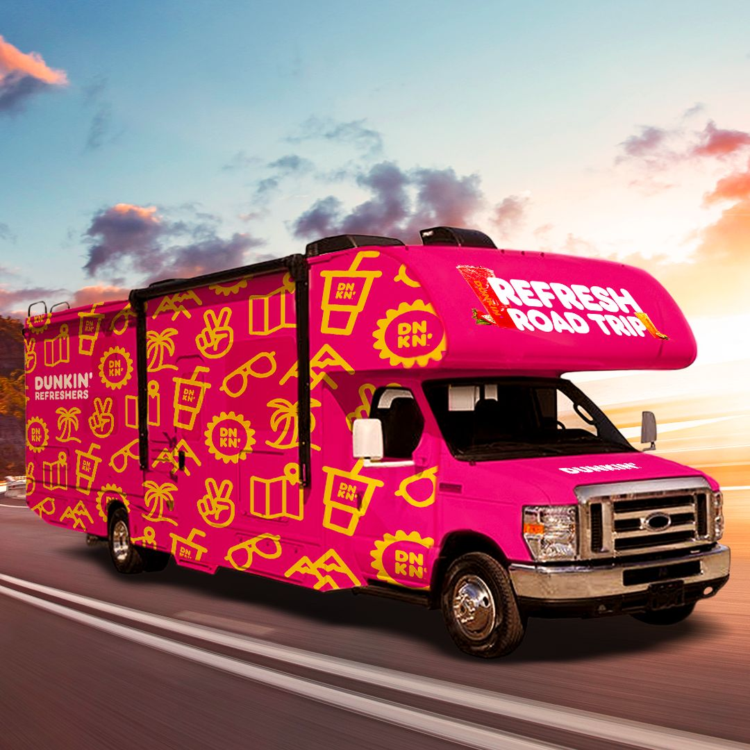 Hit the Road to Refresh in the Dunkin' Refreshers RV
