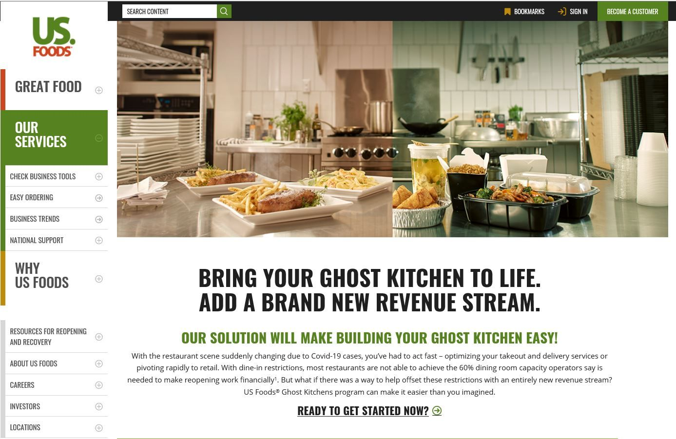 US Foods Launches Ghost Kitchens Program to Help Operators Expand Off-Premise Dining and Create a New Revenue Stream