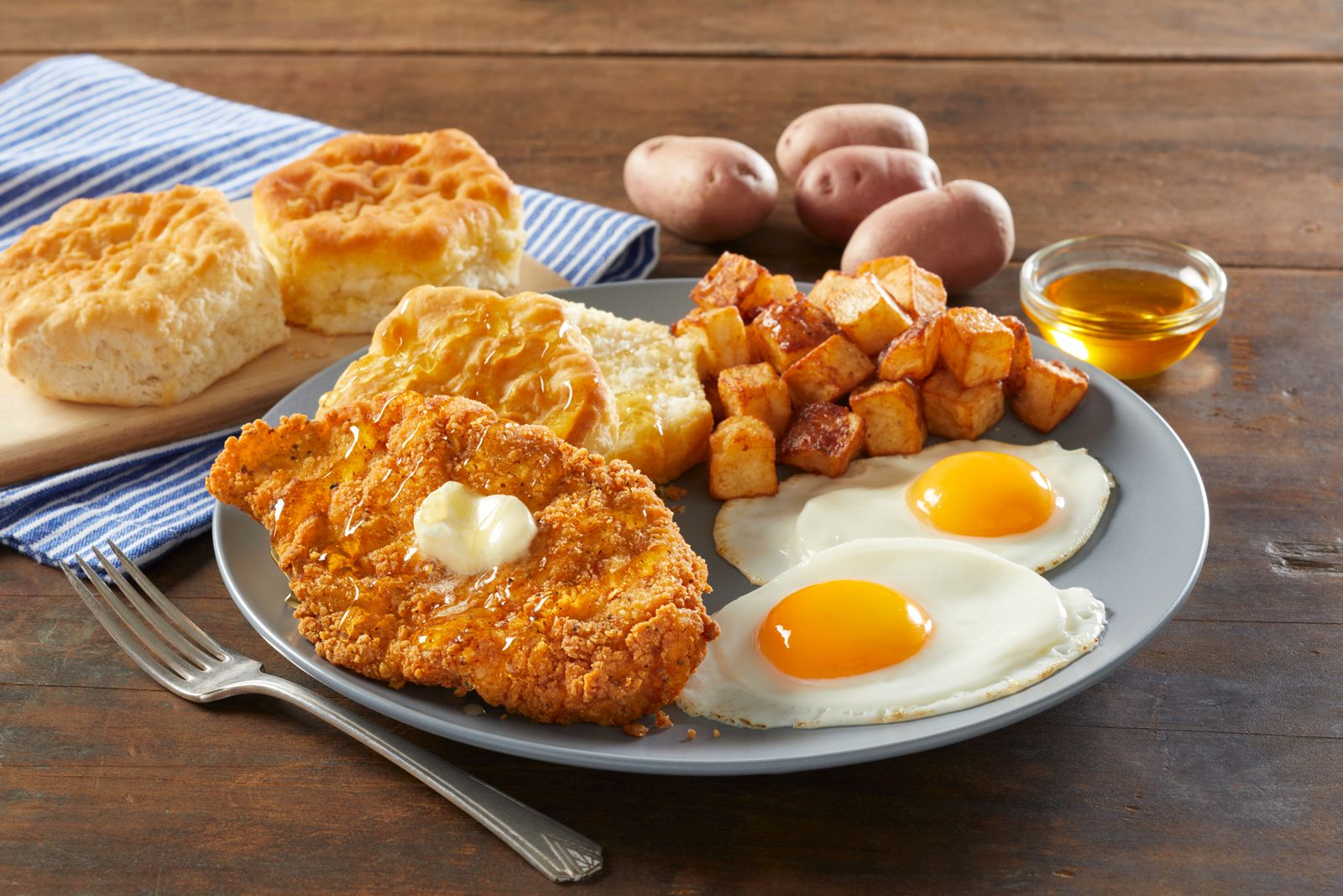 Bob Evans Honey Butter Chicken & Biscuit Breakfast
