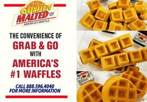 The Convenience of Grab & Go with America's Favorite Waffles – Golden Malted is the #1 Choice