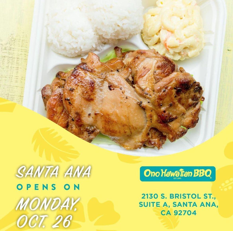 Ono Hawaiian BBQ Celebrates New Restaurant Opening in Santa Ana, CA