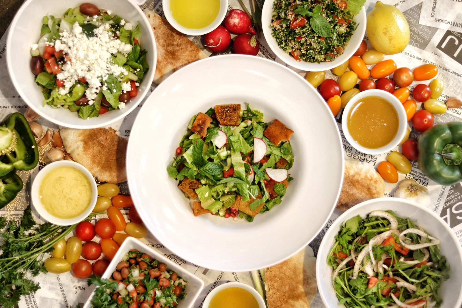 SAJJ Mediterranean has launched a new line of five Classic Mediterranean Salads available from its San Francisco Bay Area restaurants, which include a Fattoush Salad, Tabbouleh Salad, Greek Salad, SAJJ Rocca Salad, and Fava Bean Salad.