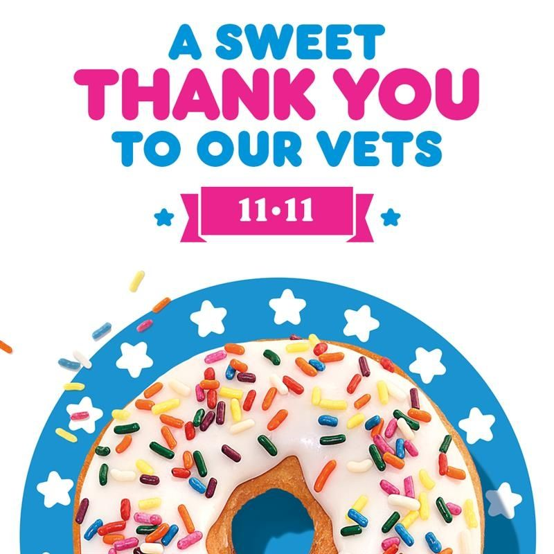 Dunkin' Gives Veterans a Sweet Salute with Free Donut Offer on Veterans Day