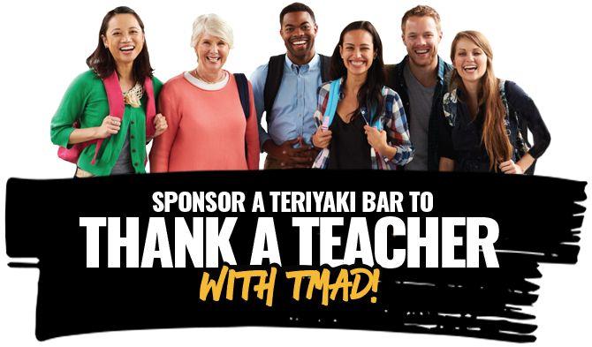 Teriyaki Madness Is Thanking Teachers With Free Teriyaki