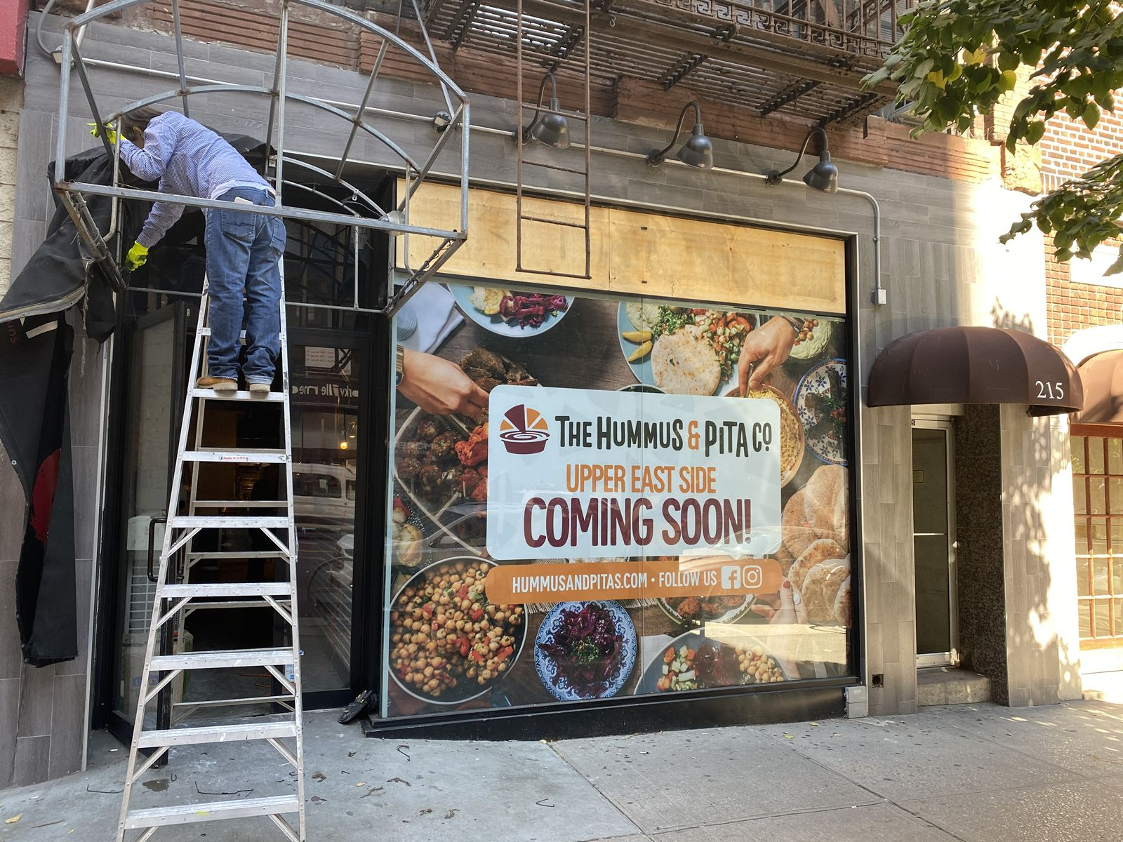 The Hummus & Pita Co. secures a new location in desirable Upper East Side Manhattan and is slated to open before year's end.