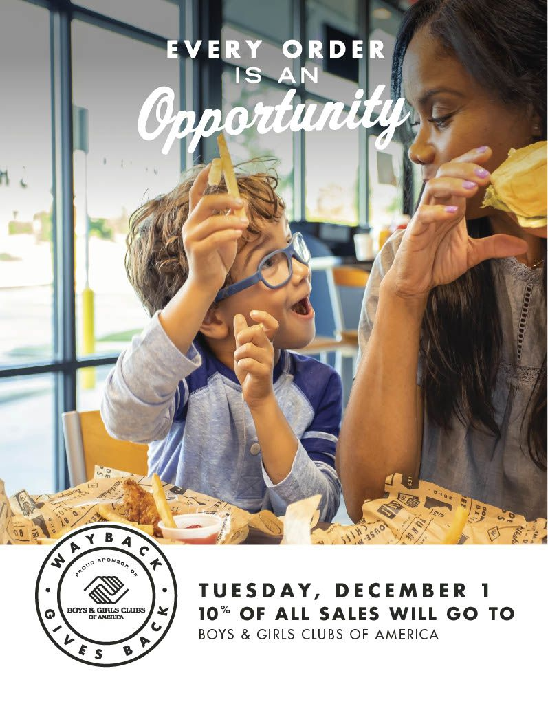 Wayback Burgers Celebrates 'Giving Tuesday' With Boys & Girls Clubs of America