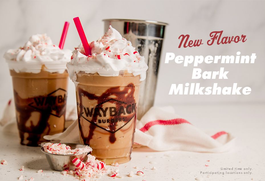 Wayback Burgers Rings in the Holidays with a Peppermint Bark Shake