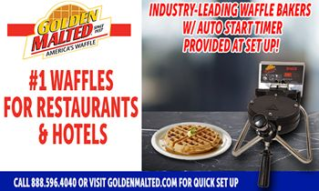 #1 Waffles for Restaurants & Hotels -- Golden Malted Provides Waffle Irons with Set Up thumbnail