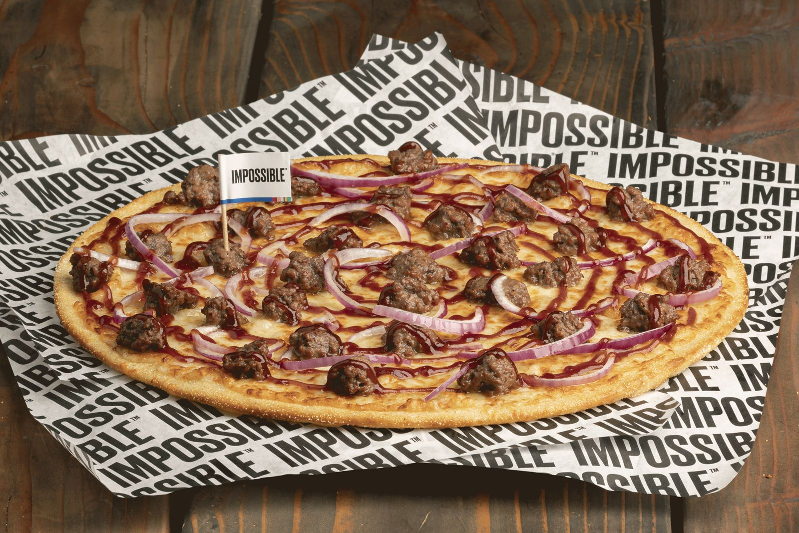 Pizza Guys Impossible Beef BBQ pizza