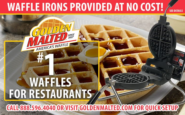 #1 Demanded Waffles for Restaurants - Golden Malted Provides Waffle Irons at Setup
