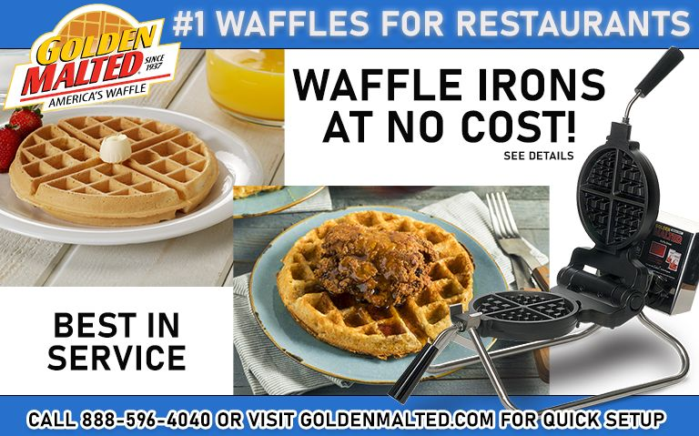 Add America's #1 Waffles to Your Menu - It's Quick & Easy with Golden Malted