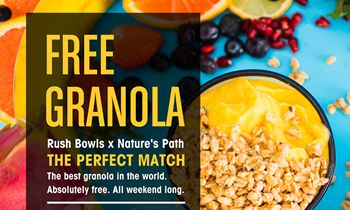 Rush Bowls Announces 2021 Spring Promotion with Nature's Path