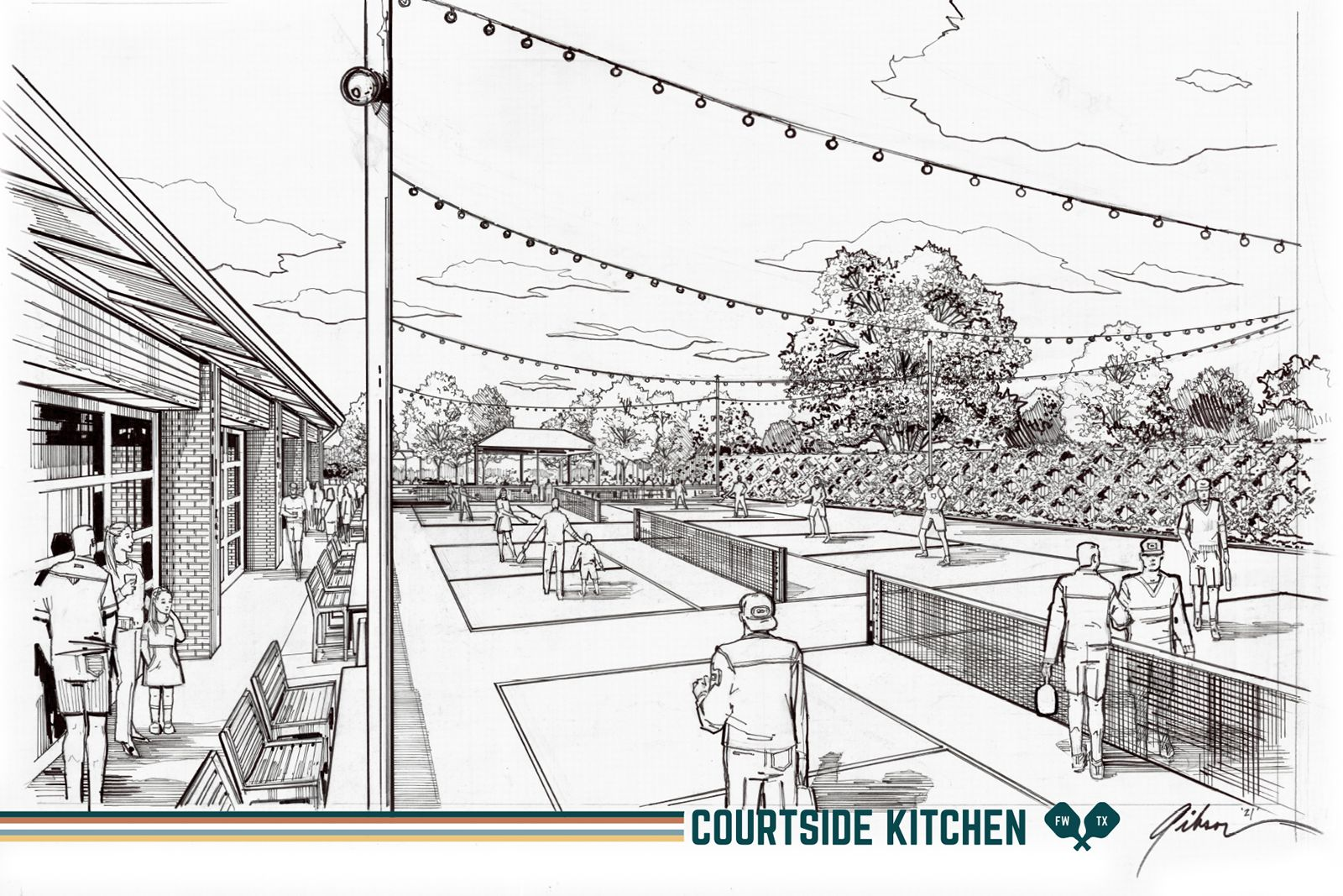 Courtside Kitchen, A New Food & Pickleball Concept, To Debut Summer 2021 in Fort Worth