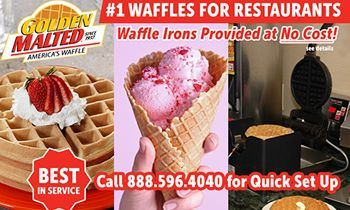 <p>#1 Waffles for Restaurants -- Golden Malted Provides Waffle Irons at Set Up thumbnail