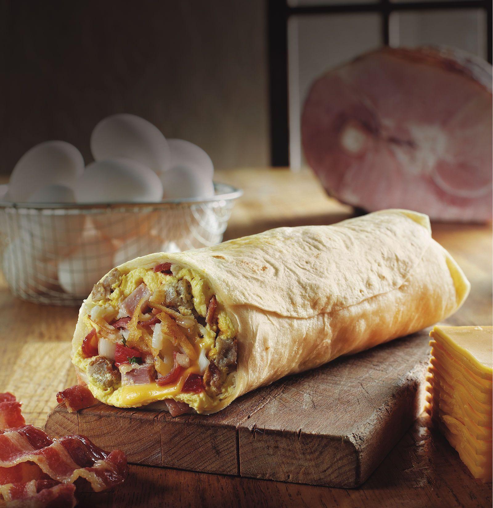 Farmer Boys Hog Heaven Breakfast Burrito