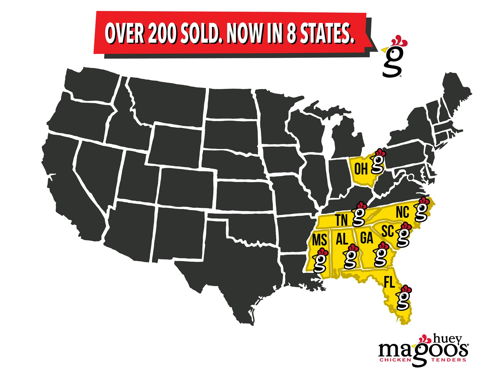 Huey Magoo's Chicken Tenders Hits 200 Franchises Sold and Restaurants in Eight States