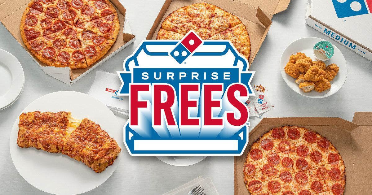 While Others Charge Surprise Fees, Domino's Gives Away Surprise FREES!