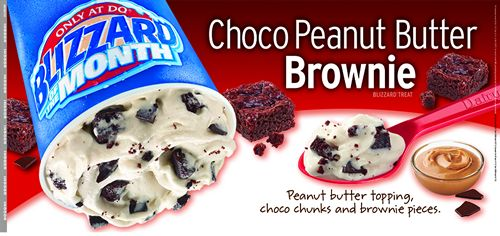Dairy Queen Restaurants Debut Choco Peanut Butter Brownie  as the May Blizzard of the Month