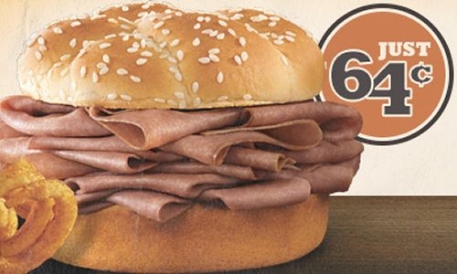 Arby's Restaurants Offer 64¢ Roast Beef Sandwich Deal to Celebrate 49th Anniversary