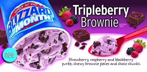 Dairy Queen Makes the Dog Days of Summer More Delightful with the New Tripleberry Brownie as Blizzard of the Month