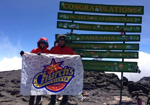 Church's Chicken CEO Jim Hyatt Reaches New Heights with Climb of Africa's Mt. Kilimanjaro